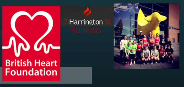 Running to raise money for the British Heart Foundation
