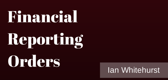 Financial Reporting Orders: An Economic Tag or A Necessary Deterrent?