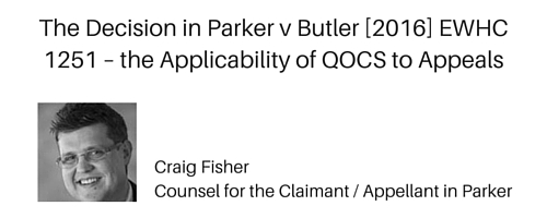 The Decision in Parker v Butler [2016] EWHC 1251