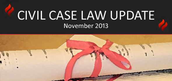 Civil Case Law – November Update