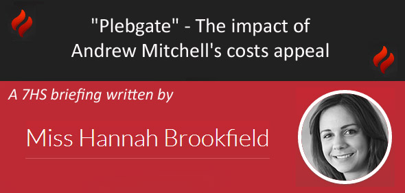 Plebgate – The impact of Andrew Mitchells costs appeal