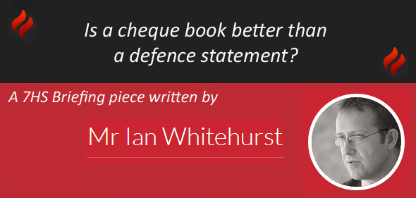 Is a cheque book better than a defence statement?