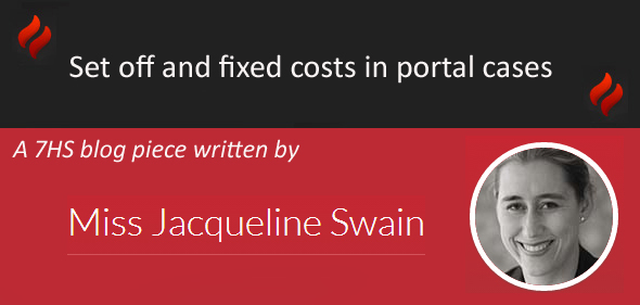 Set off and fixed costs in portal cases