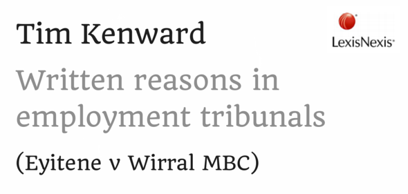 Written reasons in employment tribunals